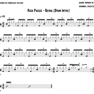 Rosa Passos - Beiral intro drum transcription
