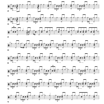 Donald Bailey - Since I Fell For You drum transcription