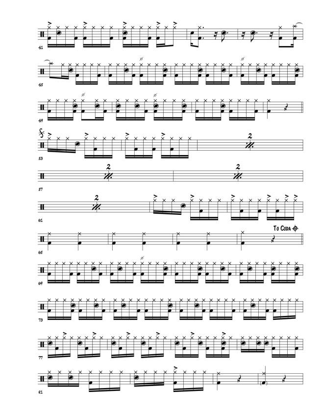 Rosa Passos Ladeira da Preguica drum transcriptions