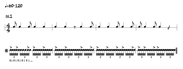 Quintuplets exercise -  Ted Reed's Syncopation Interpretation.jpg