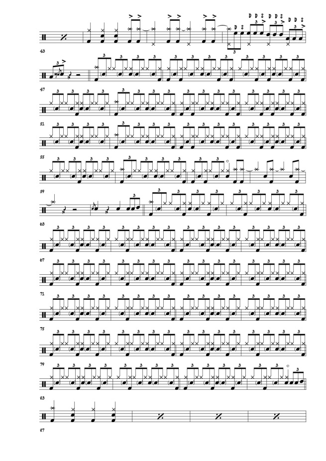 Toto Rosanna drum transcriptions