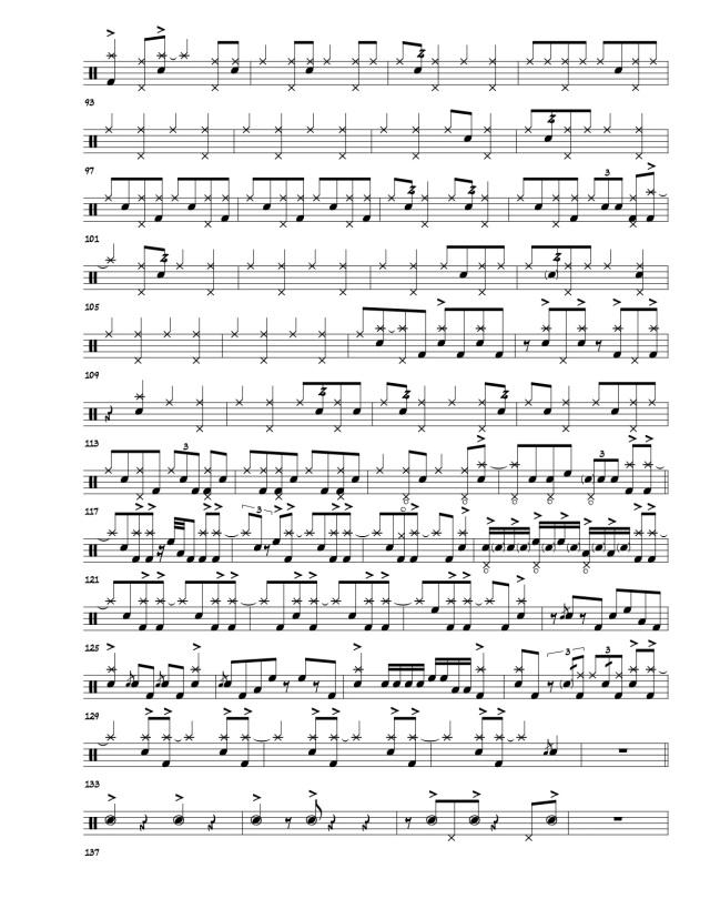 Joey Baron Doxy drum transcription