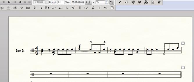 Finale - drum transcriptions