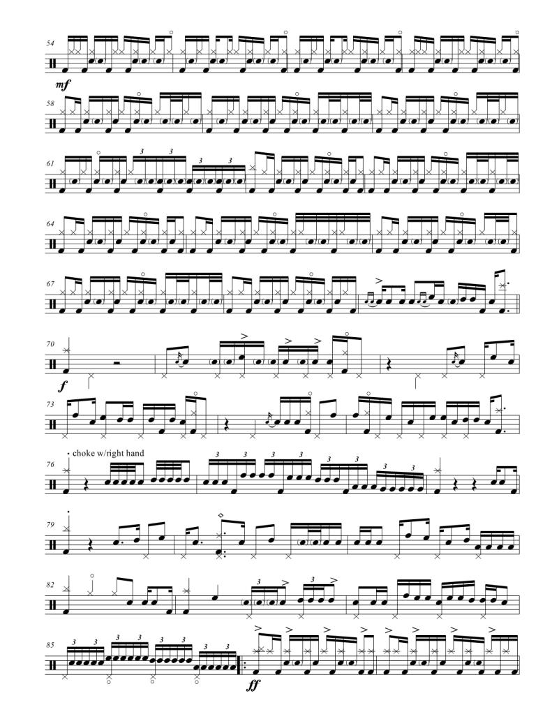 daft punk giorgio by moroder drum transcription