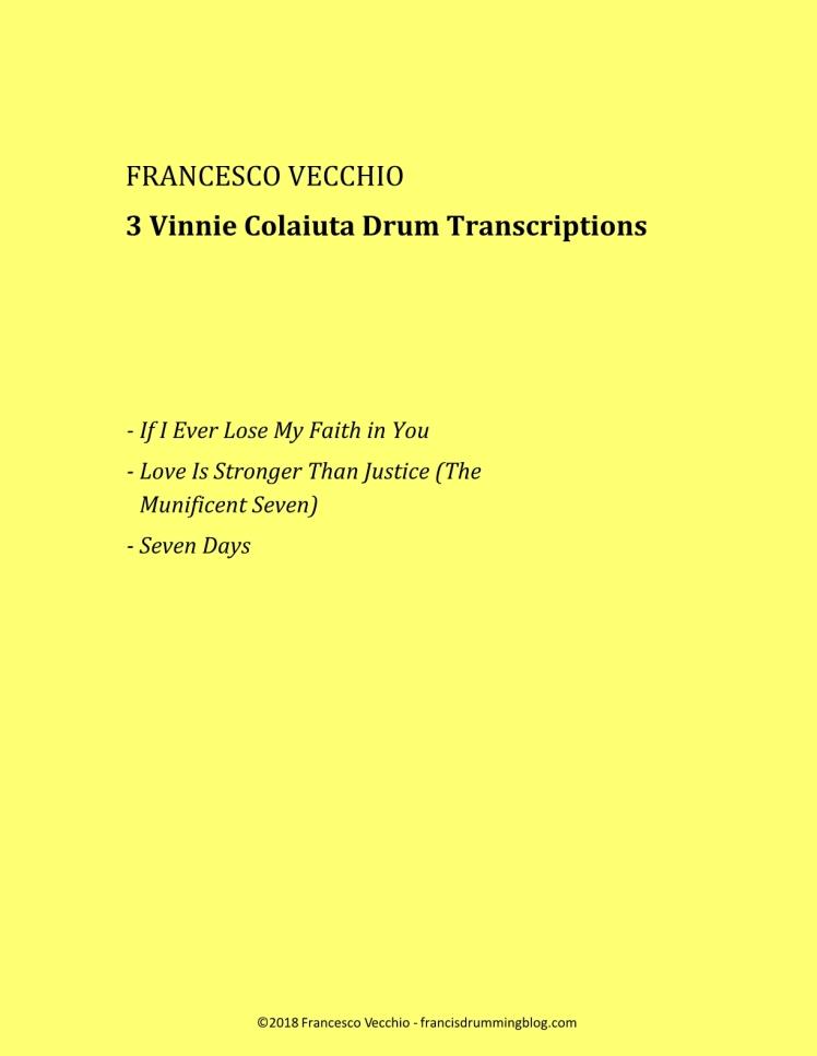 vinnie colaiuta drum transcriptions