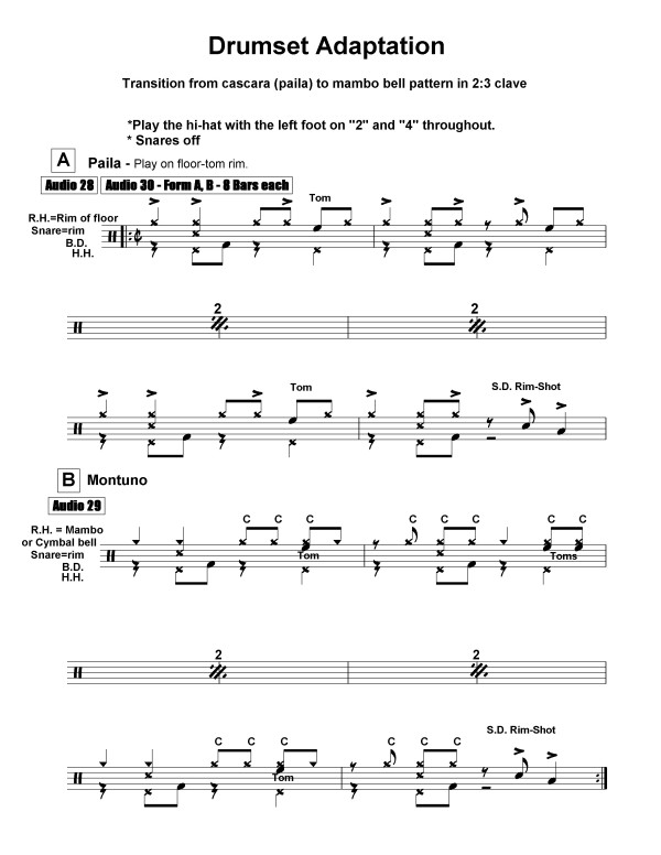 cuban rhythms for percussion & drumset sample page 1