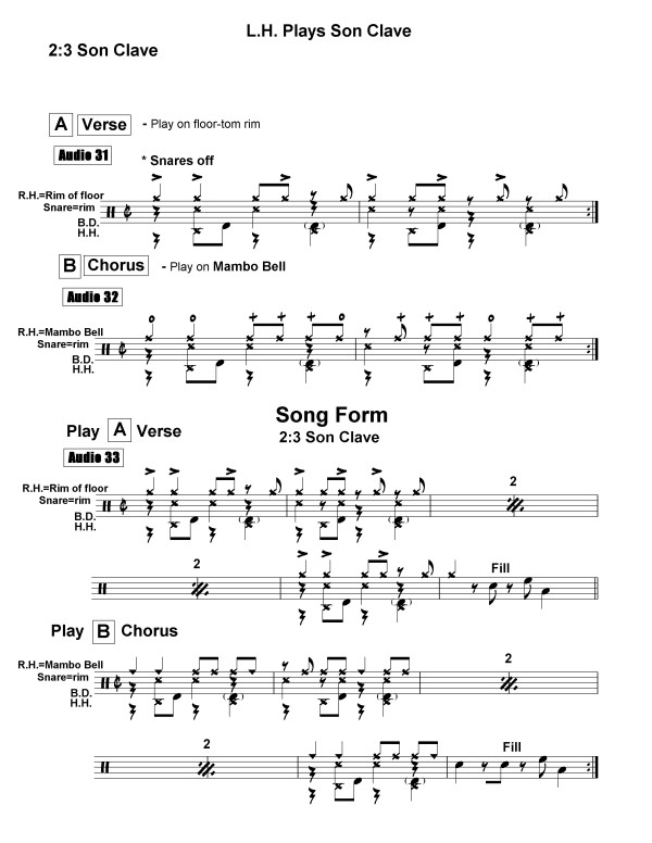 cuban rhythms for percussion & drumset page 2