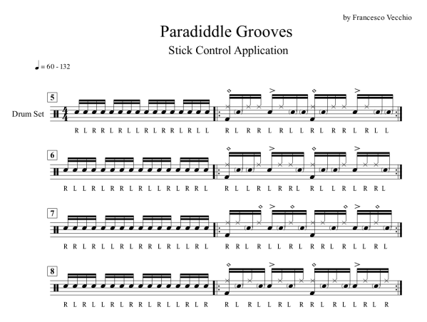 paradiddle groove drums