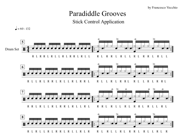 paradiddle drumset applications