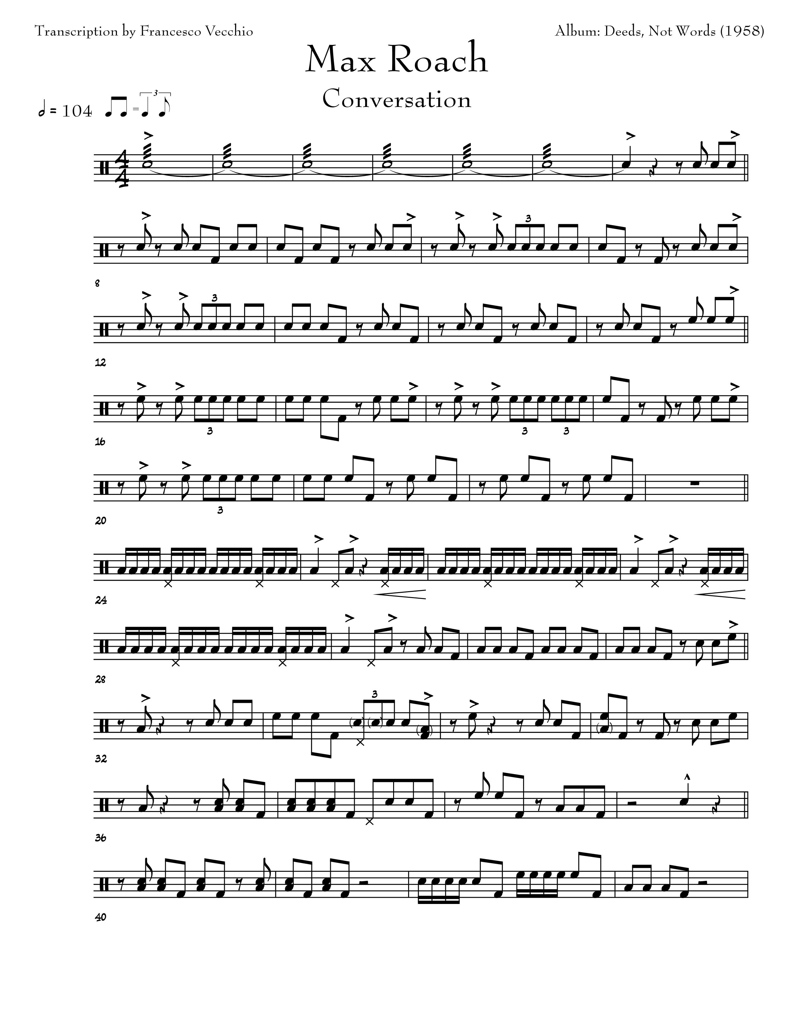 max roach conversation drum transcription