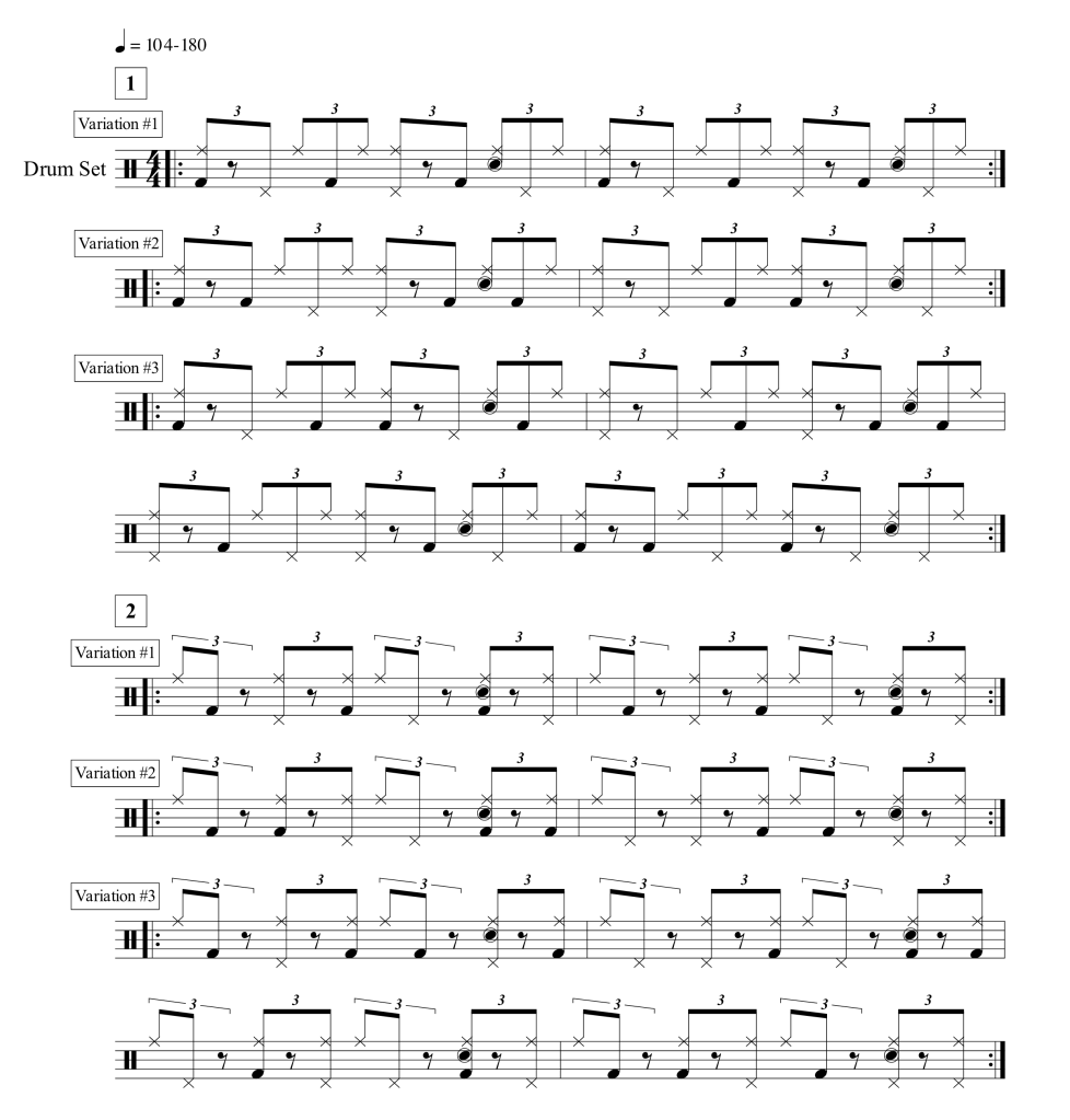 quarter note triplet exercises part 2